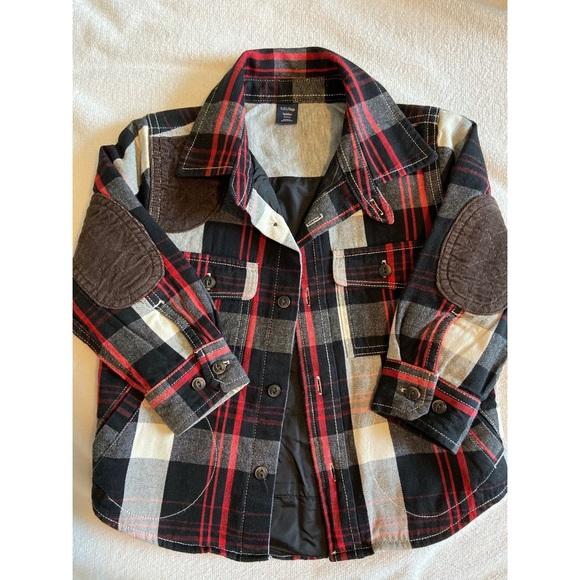 BabyGap Other - Baby Gap Red/black flannel shirt jacket size 2 ya